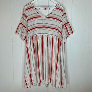 Sweet Claire Babydoll Dress Large Striped